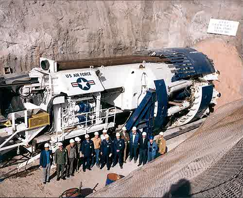 USAF Boring Equipment for Tunnel Making