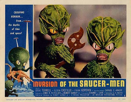 Invasion of the Saucer Men lobby card